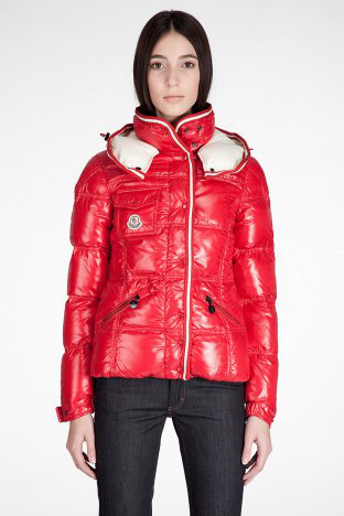 Cheap Moncler Jackets For Women Red With High Collar MC1146 Sale