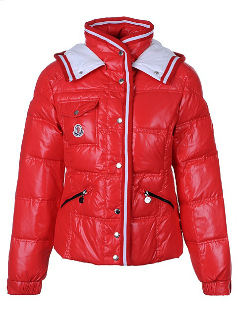 Cheap Moncler Jackets For Women Red With Mock Collar MC1215 Sale