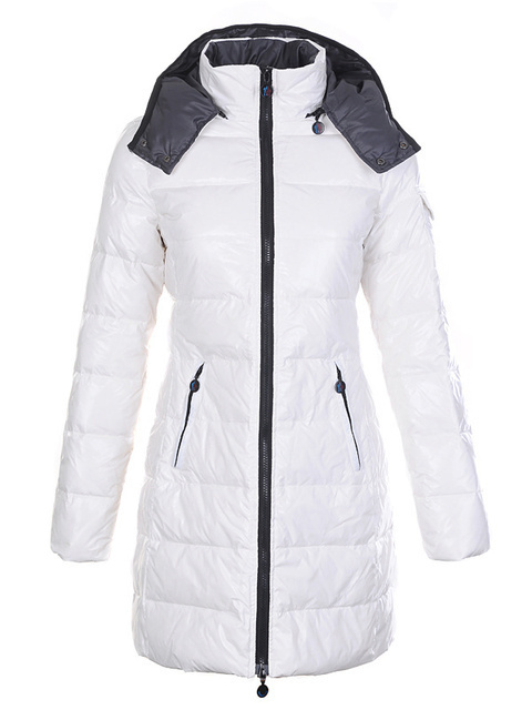 Cheap Moncler Jackets For Women White With Mock Collar MC1211 Sale