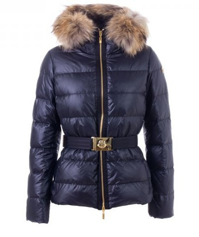 Cheap Moncler Jackets For Women With Pretty Fur Collar And Waistband MC1267 Sale