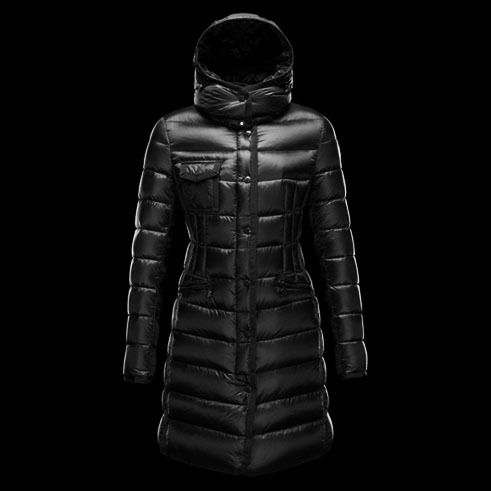 Cheap Moncler Long Coats For Women Black MC1546 Sale