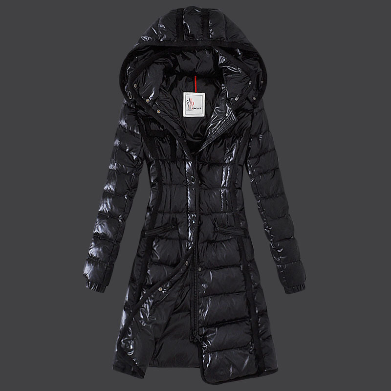 Cheap Moncler Long Coats For Women Black MC1551 Sale