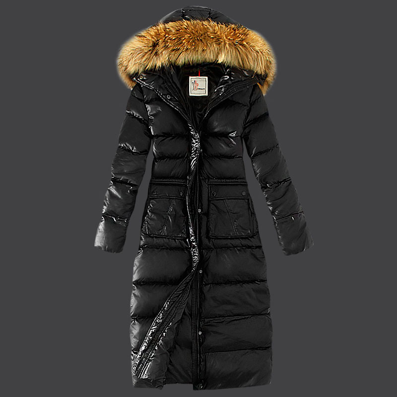 Cheap Moncler Long Coats For Women Black MC1578 Sale