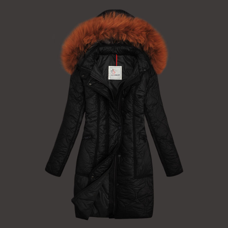 Cheap Moncler Long Coats For Women Black MC1584 Sale