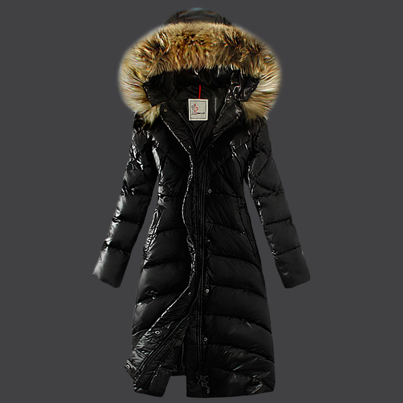 Cheap Moncler Long Coats For Women Black MC1587 Sale