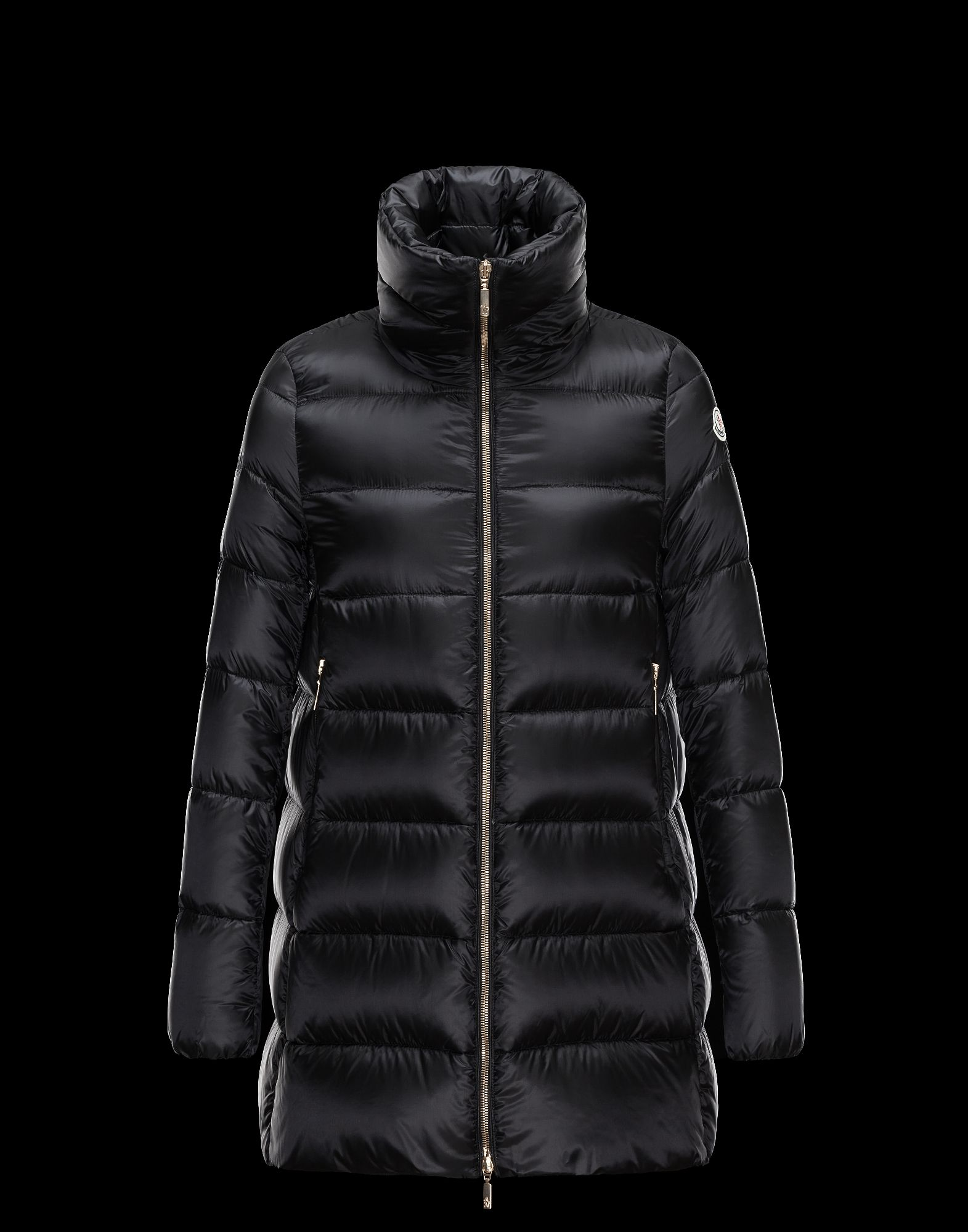 Cheap Moncler TORCY Women Coats Black With High Collar Sale NA1102