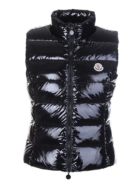 Cheap Moncler Vest Women Black With High Collar MC1198 Sale