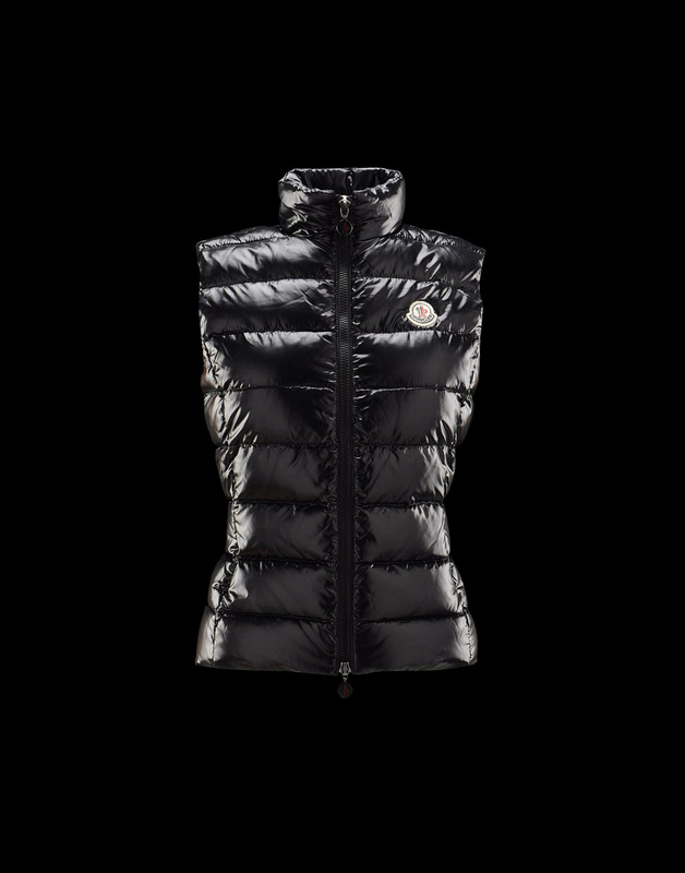 Cheap Moncler Vest Women Black With Mock Collar MC1069 Sale
