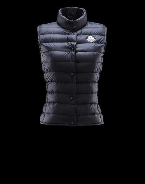 Cheap Moncler Vest Women Blue With Mock Collar MC1247 Sale