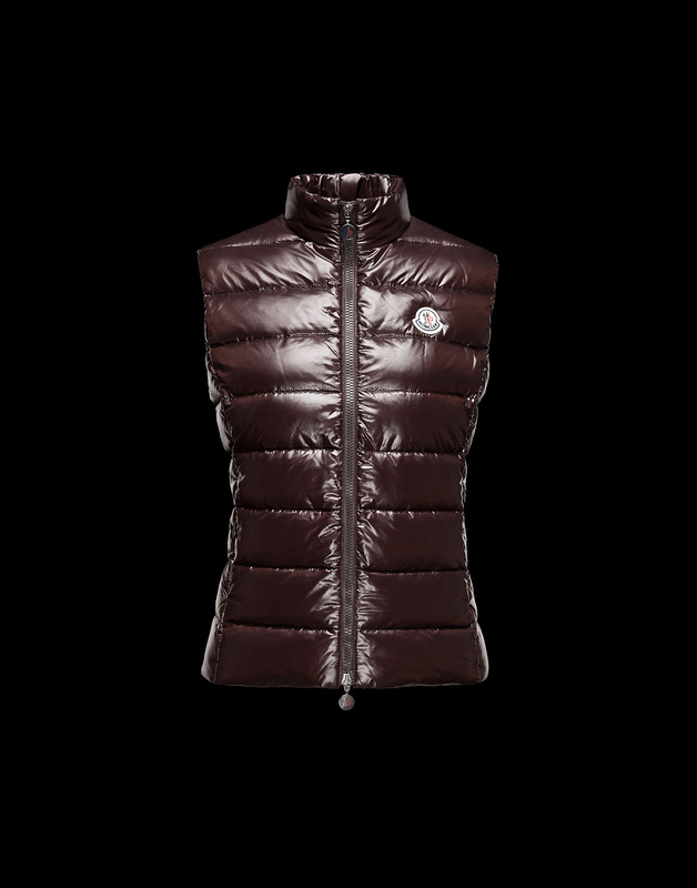 Cheap Moncler Vest Women Brown With Mock Collar MC1068 Sale