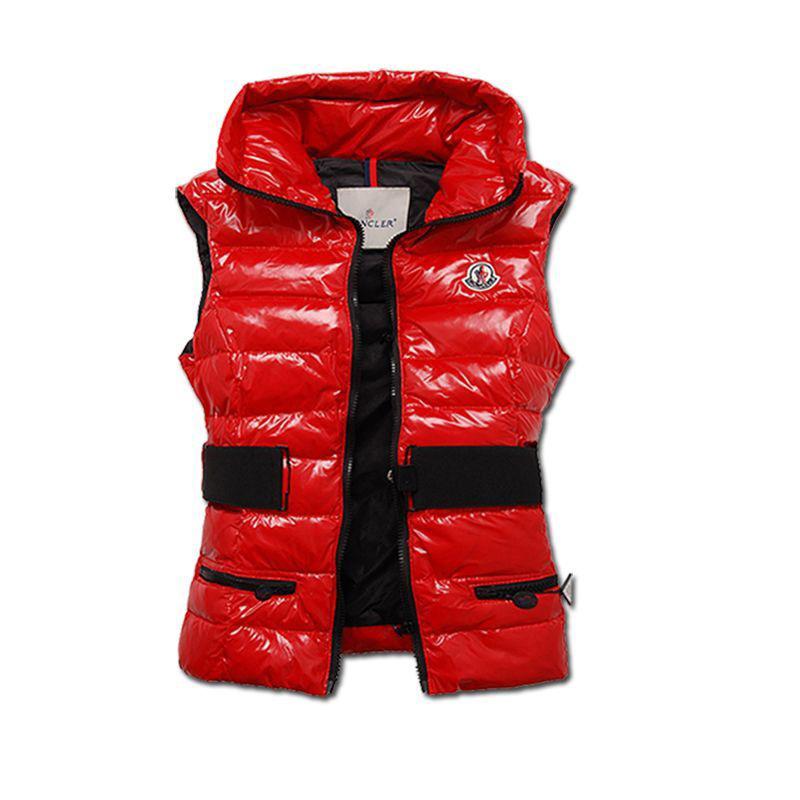 Cheap Moncler Vest Women Red With Waistband MC1228 Sale