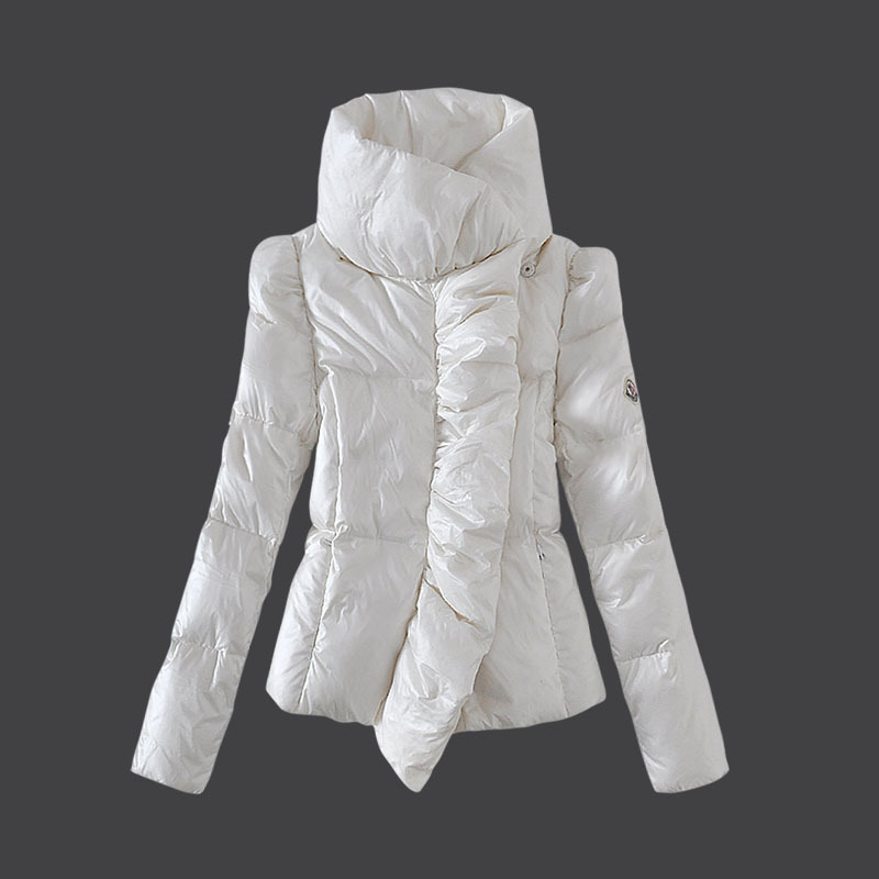 Cheap Moncler Women Down Coats White MC1478 Sale