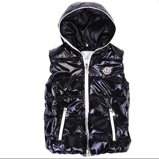 Cheap Moncler Women Down Vest Black MC1427 Sale