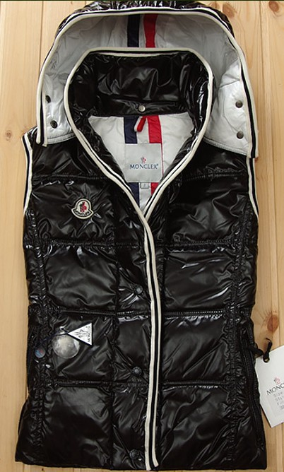 Cheap Moncler Women Down Vest Black MC1437 Sale