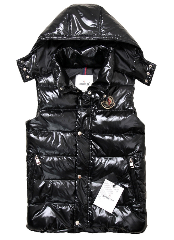 Cheap Moncler Women Down Vest Black MC1450 Sale