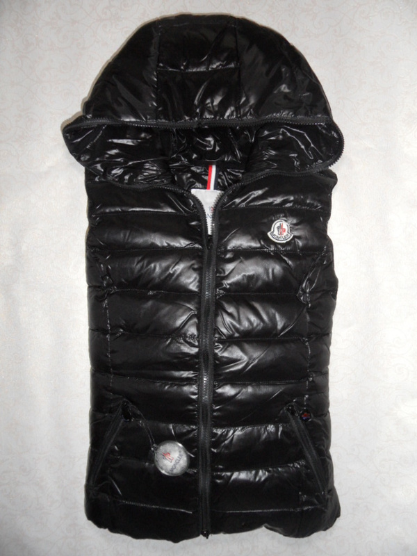 Cheap Moncler Women Down Vest Black MC1458 Sale