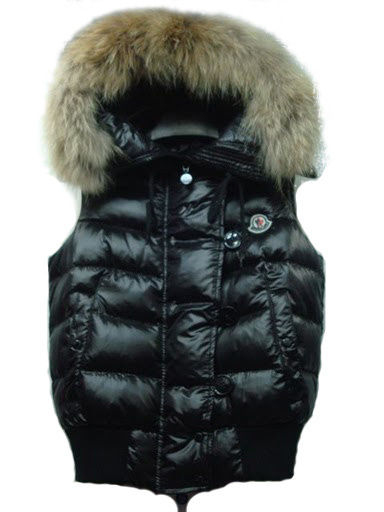 Cheap Moncler Women Down Vest Black MC1462 Sale