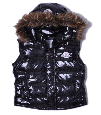 Cheap Moncler Women Down Vest Black MC1467 Sale