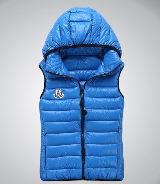 Cheap Moncler Women Down Vest Blue MC1423 Sale