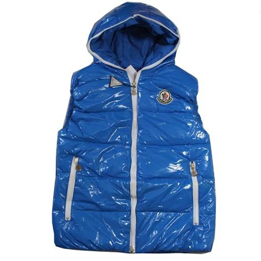 Cheap Moncler Women Down Vest Blue MC1425 Sale