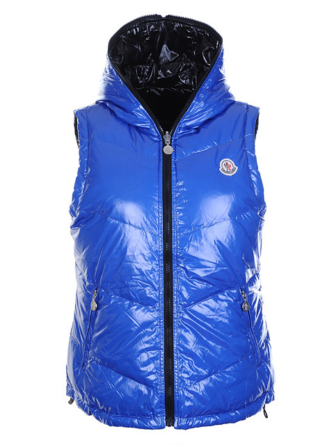 Cheap Moncler Women Down Vest Blue MC1430 Sale