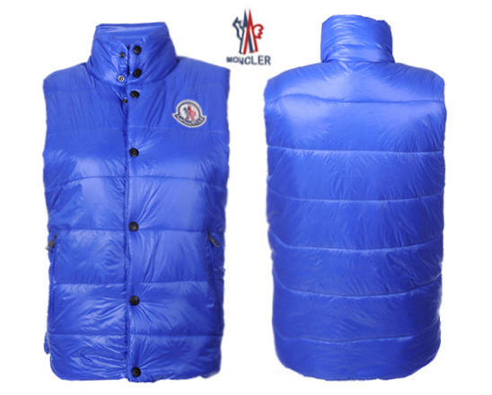 Cheap Moncler Women Down Vest Blue MC1453 Sale