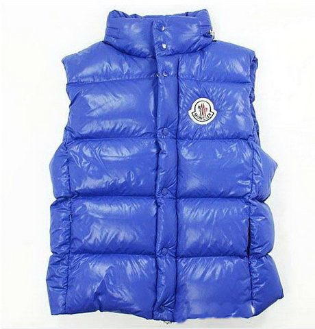 Cheap Moncler Women Down Vest Blue MC1454 Sale