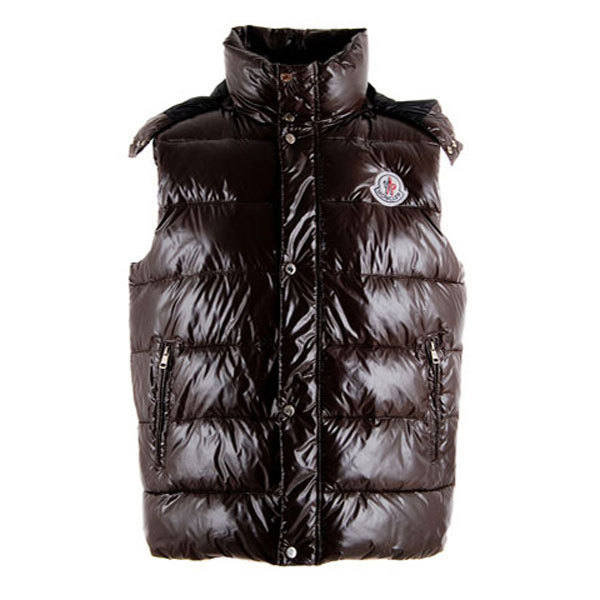 Cheap Moncler Women Down Vest Brown MC1446 Sale
