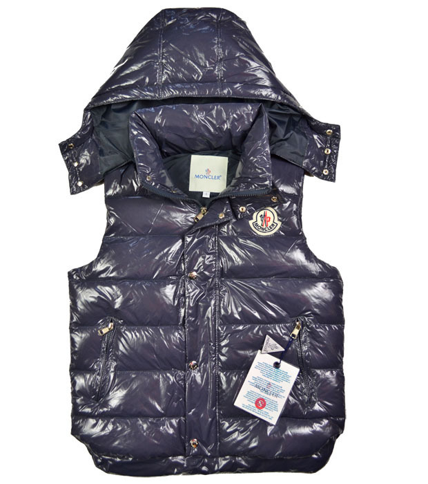 Cheap Moncler Women Down Vest Navy MC1452 Sale