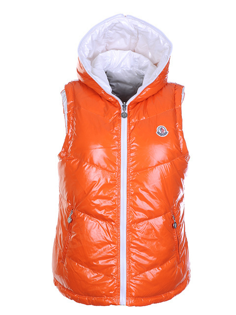 Cheap Moncler Women Down Vest Orange MC1432 Sale