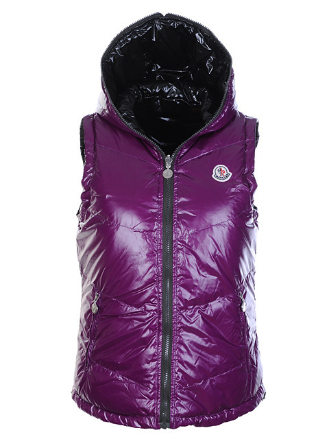 Cheap Moncler Women Down Vest Purple MC1431 Sale
