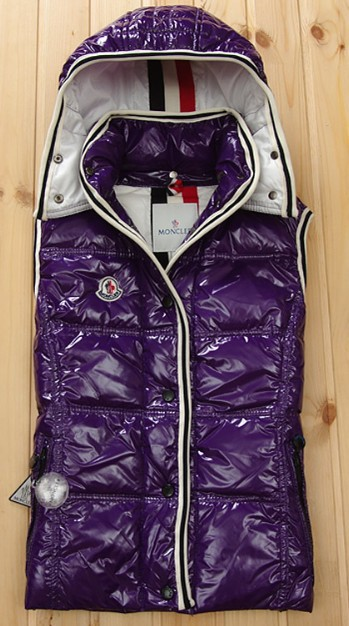 Cheap Moncler Women Down Vest Purple MC1438 Sale