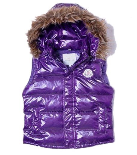 Cheap Moncler Women Down Vest Purple MC1468 Sale
