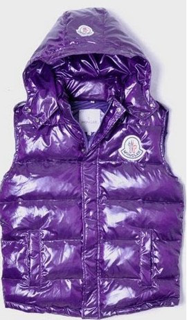 Cheap Moncler Women Down Vest Purple MC1471 Sale