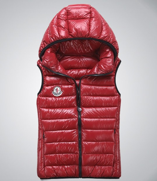 Cheap Moncler Women Down Vest Red MC1424 Sale