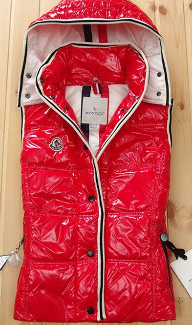 Cheap Moncler Women Down Vest Red MC1436 Sale