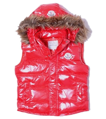 Cheap Moncler Women Down Vest Red MC1469 Sale