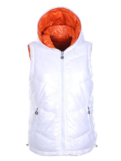 Cheap Moncler Women Down Vest White MC1433 Sale