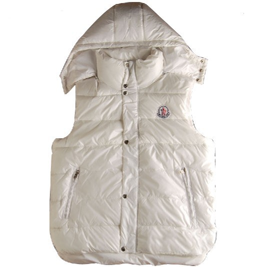 Cheap Moncler Women Down Vest White MC1448 Sale