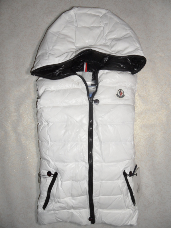 Cheap Moncler Women Down Vest White MC1457 Sale