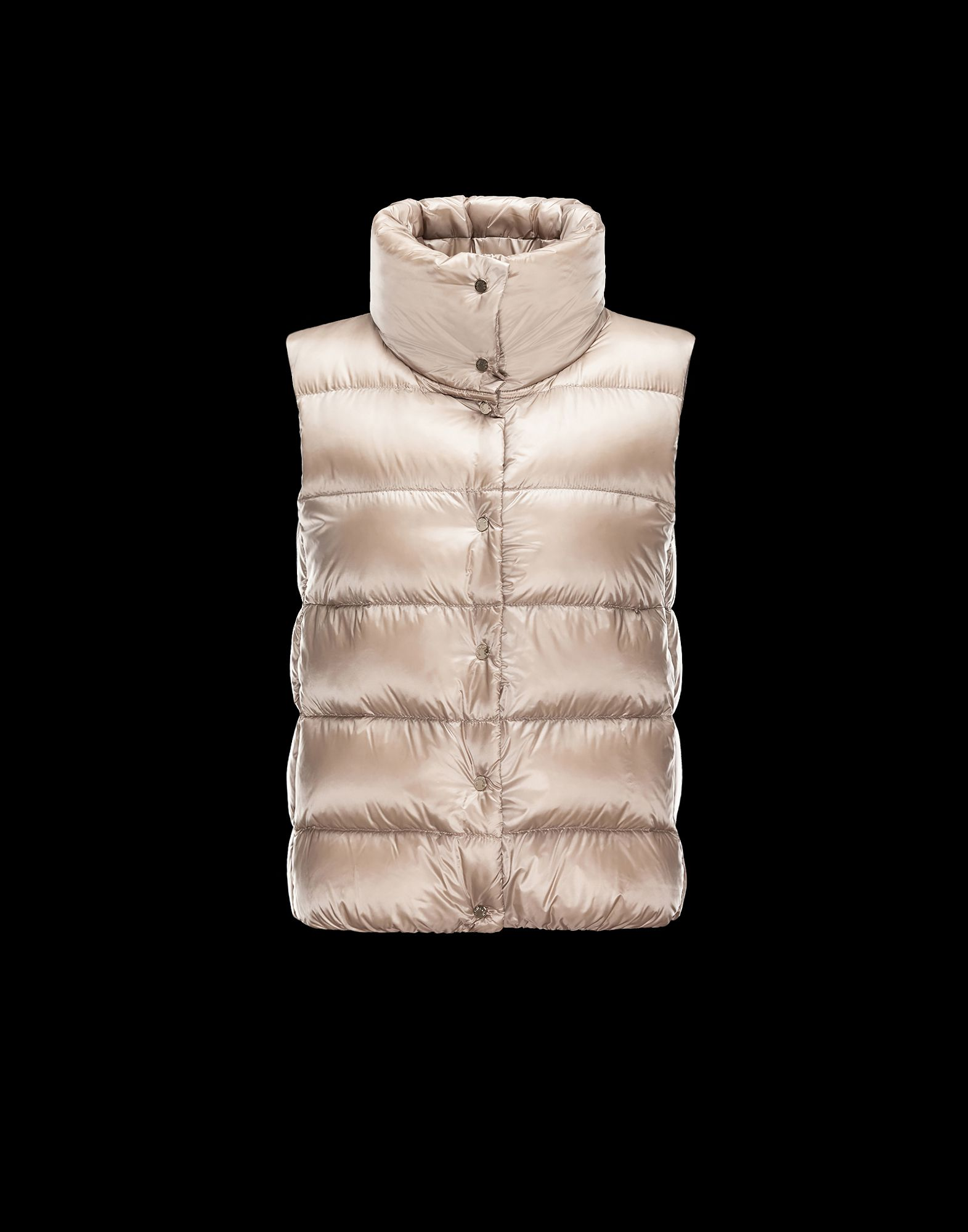 Cheap Moncler Women Vest Beige Sale NA1099