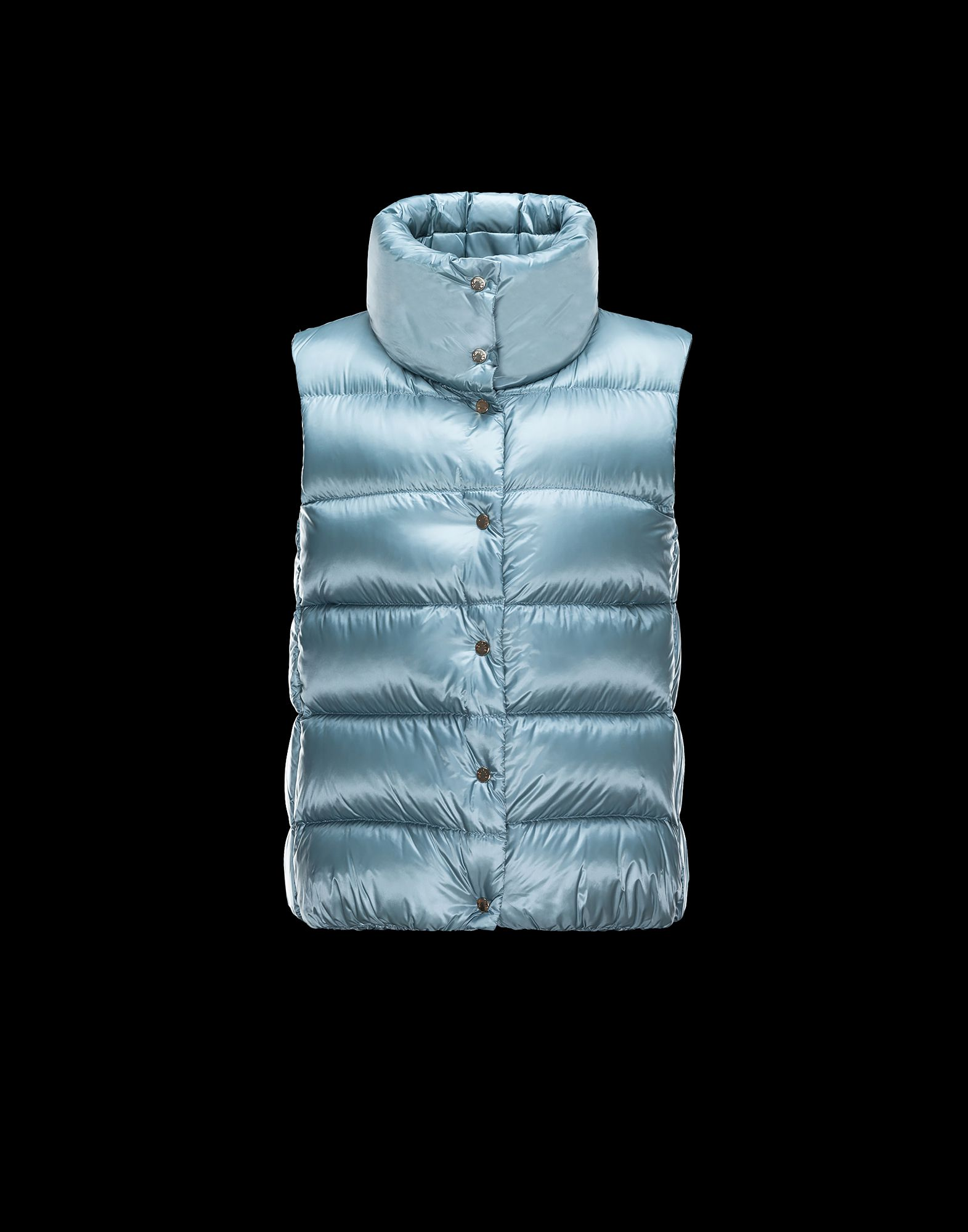 Cheap Moncler Women Vest Sky Blue Sale NA1098