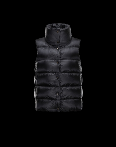 Cheap Moncler Women Vest Black Sale NA1100