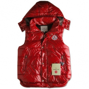 Cheap Moncler Women Down Vest Red MC1449 Sale