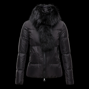 Cheap Moncler Down Jackets For Women With Fur Collar Brown MC1328 Sale