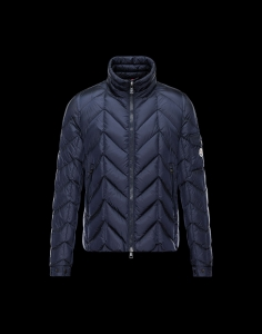 New Cheap Moncler Men Jackets Blue With Cap Sale NA1010