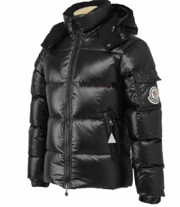 Cheap Moncler Jackets For Men Black With Mock Collar MC1202 Sale