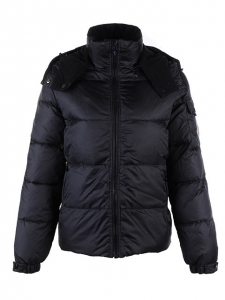 Cheap Moncler Jackets For Men Black With Mock Collar MC1235 Sale