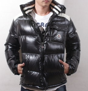 Cheap Moncler Jackets For Men Black With High Collar MC1111 Sale