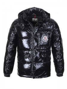 Cheap Moncler Jackets For Men Black With Mock Collar MC1102 Sale